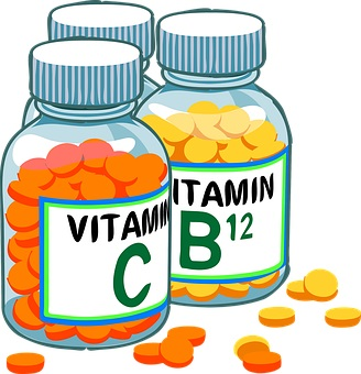 take care of your health and eat vitamins