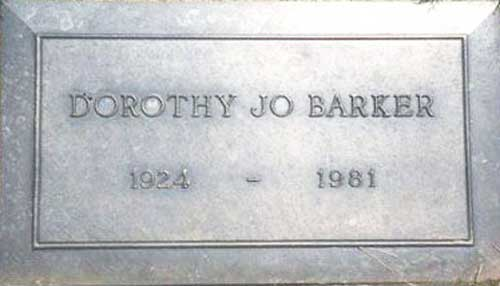 Death and Burial of Dorothy Jo Gideon