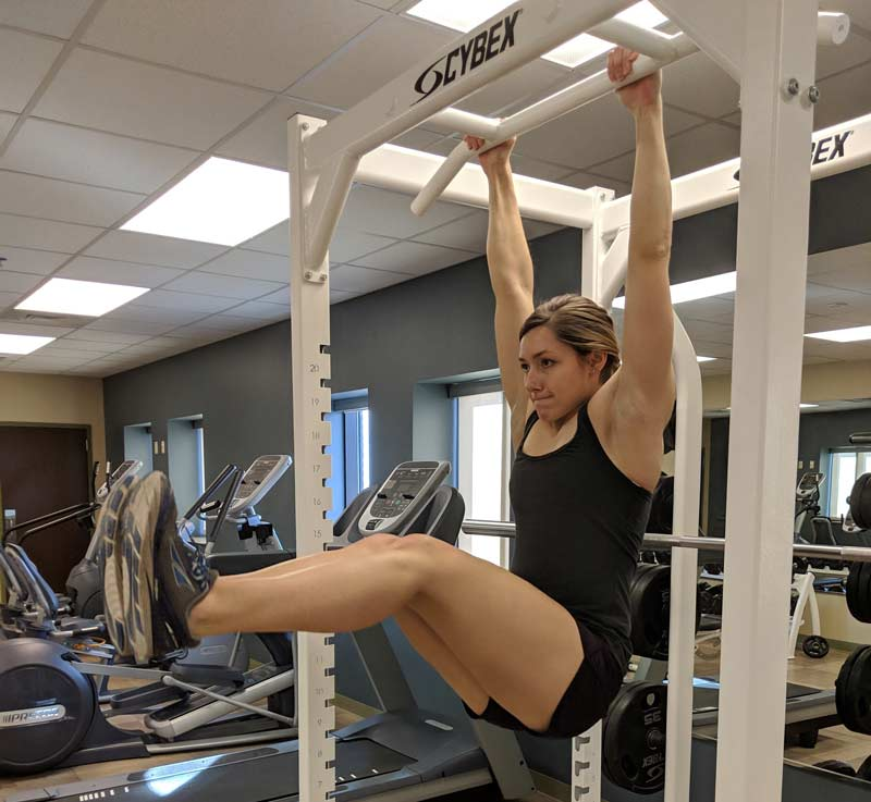 Hanging L-sit Hold Isometric Exercise
