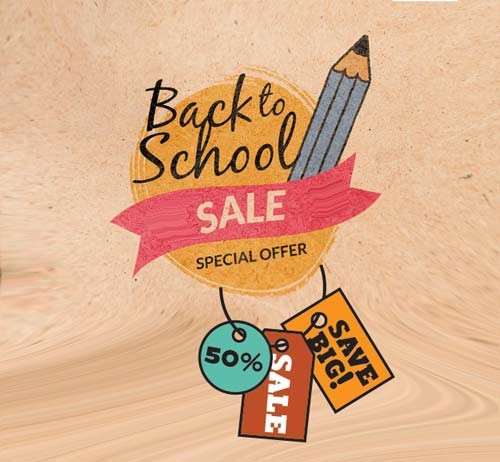 Back to school discounts