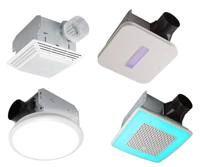 best bathroom exhaust fans with LED lights