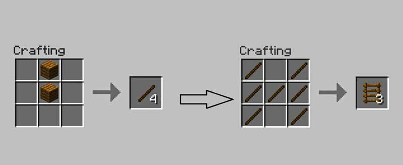 How to create a ladder in Minecraft?