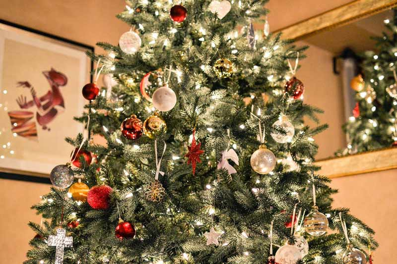 The Mechanism of Hanging Christmas Lights on Outdoor Trees