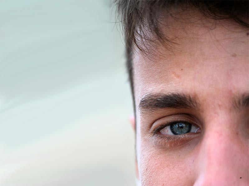 Guy comfortable looking at you